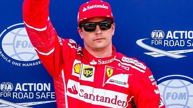 Kimi Raikkonen Comemora Pole GP Monaco Formula 1 F1 27/05/2017