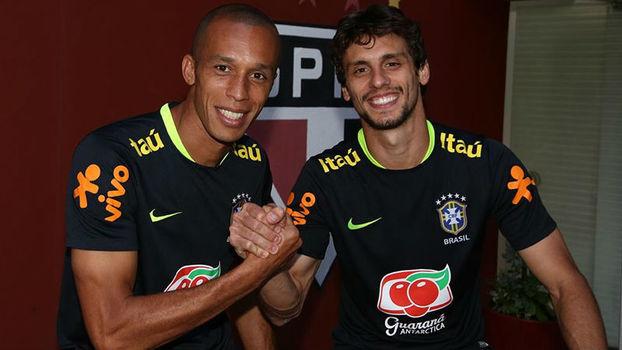 40c147e390 Rodrigo Caio iguala marca de Miranda de sete convocações vestindo a camisa  do São Paulo