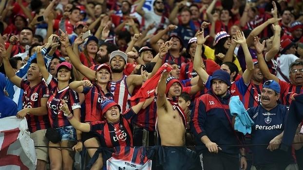 Torcedores estiveram em São Paulo para assistir partida contra o Corinthians