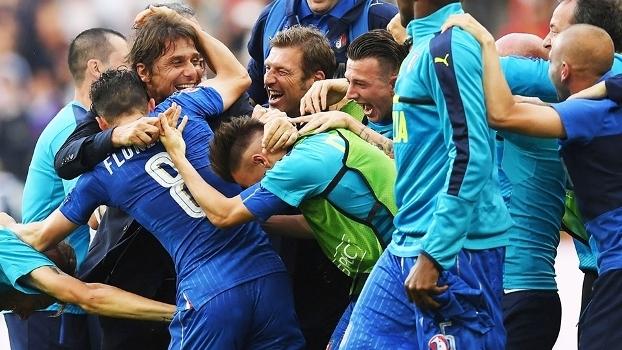 Antonio Conte Comemora Gol Italia Espanha Euro-2016 27/06/2016