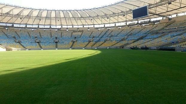 Empresa foi paga pelo Flamengo para apressar gramado do Maracanã