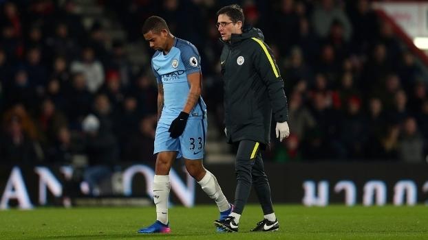 Gabriel Jesus durante jogo do Manchester City
