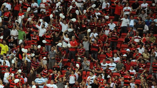 Torcida do Flamengo no Estádio Mané Garrincha, em Brasília