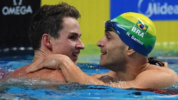 Nicholas Santos leva prata nos 50 m borboleta no Mundial de Budapeste