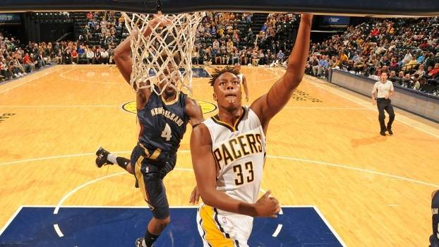 Myles Turner, ala-pivô do Indiana Pacers, nascido em 24/03/1996