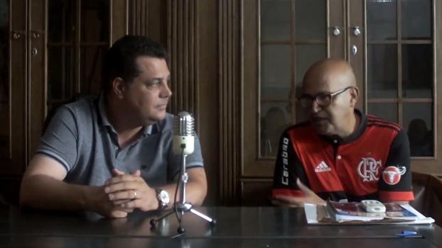 Rogério Manso Moreira, candidato de oposição à Ferj, e Peruano, ex-integrante de organizada do Flamengo