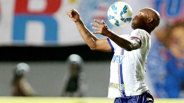 Alex Créu, abriu o placar para o Bahia contra o ABC