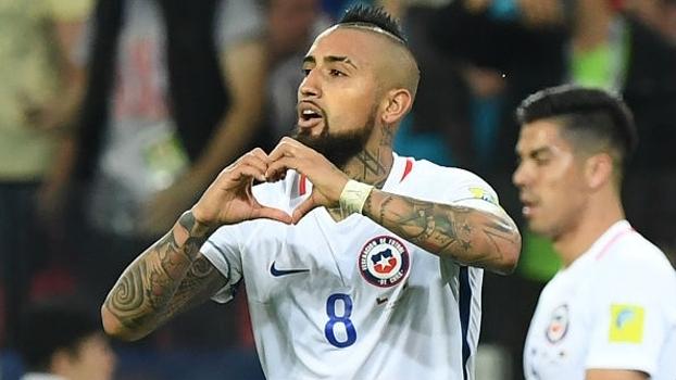 Vidal abriu o placar para o Chile na estreia da Copa das Confederações
