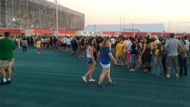 Vilas para compra de comida no parque olímpico apresentaram problemas