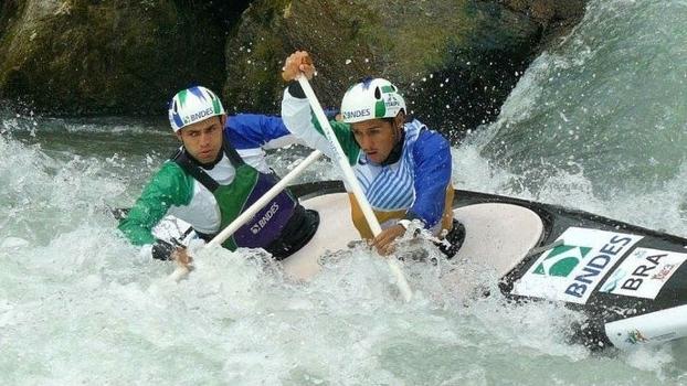 Charles Corrêa e Anderson Oliveira canoagem slalom arquivo pessoal