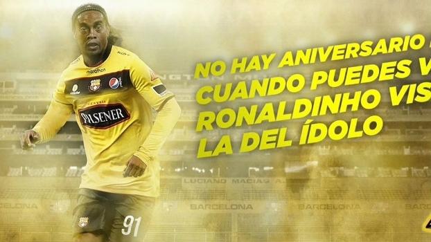 Ronaldinho Gaúcho é confirmado em amistoso do Barcelona de Guayaquil