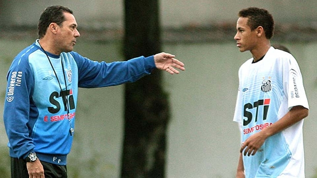 Image result for Luxemburgo and Neymar