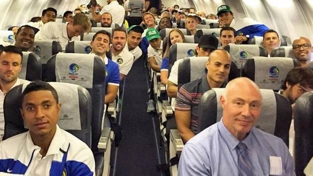 Delegação do New York Cosmos na histórica viagem para Cuba