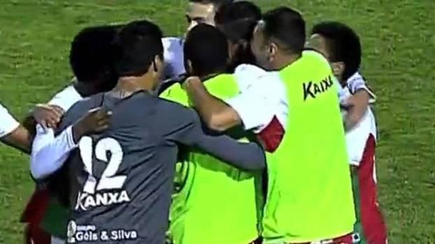 Boa Esporte comemora gol da vitória sobre o Luverdense na Série B