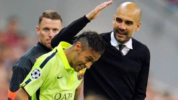 Guardiola Neymar Bayern Barcelona Champions 12/05/2015