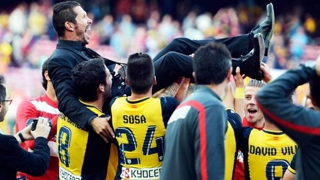 f23936b457 Diego Simeone Comemora Conquista Campeonato Espanhol Atlético de Madri em  2014