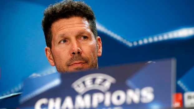 Simeone, técnico do Atlético de Madri