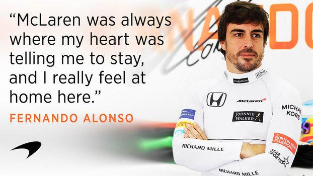 Fernando Alonso seguirá na McLaren em 2018