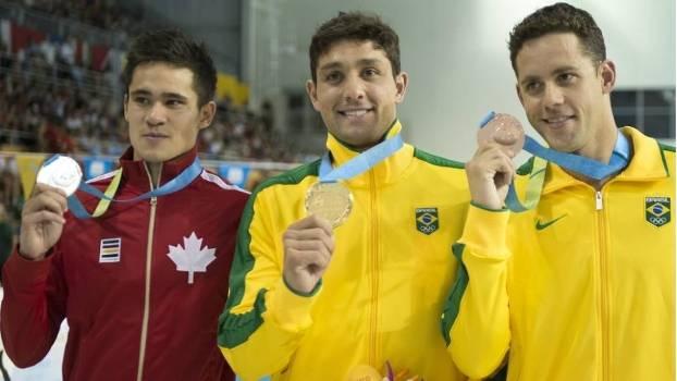 Thiago Simon conquistou a medalha de ouro, e Thiago pereira foi bronze nos 200m livre