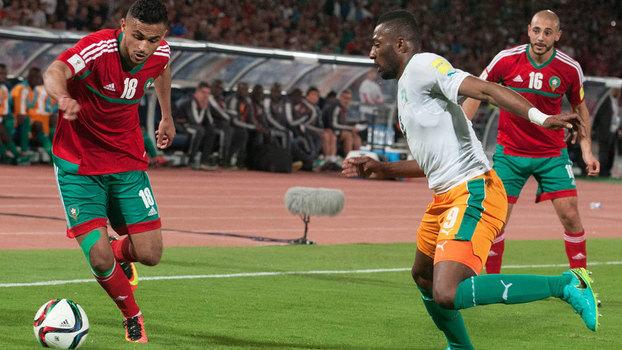 c33e49f213 Jogo entre Marrocos e Costa do Marfim pelas eliminatórias africanas em 2016