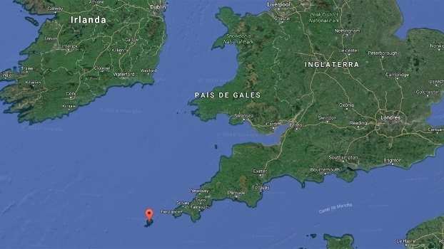 Ilhas Scilly Mapa