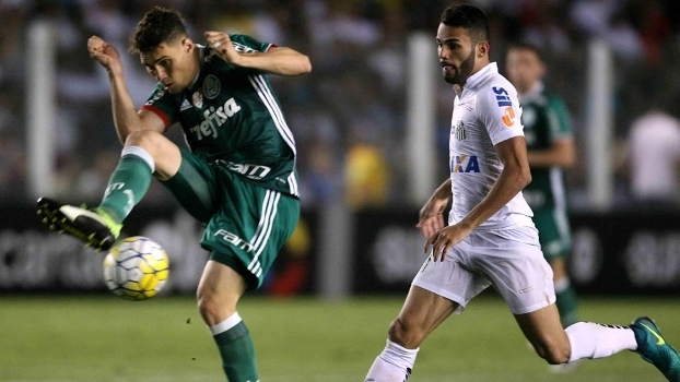 Thiago Maia durante o jogo com o Palmeiras