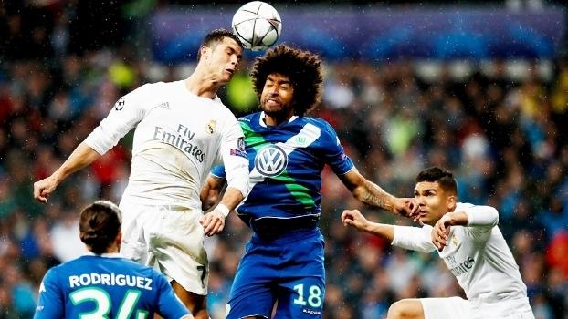Cristiano Ronaldo Real Madrid Dante Wolfsburg Champions 12/04/2016