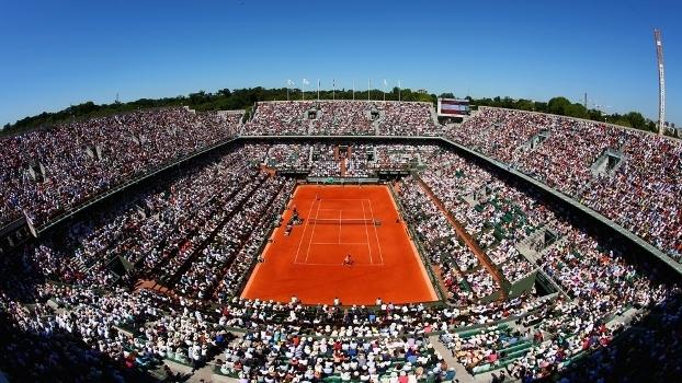 A quadra central de Roland Garros