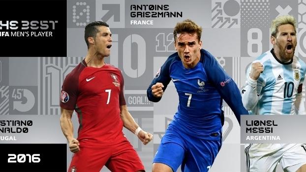 Ronaldo, Griezmann e Messi disputam o prêmio de melhor do mundo