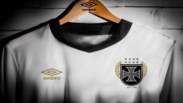 80b67a3224a42 Vasco e Umbro lançam camisa comemorativa branca e dourada - ESPN