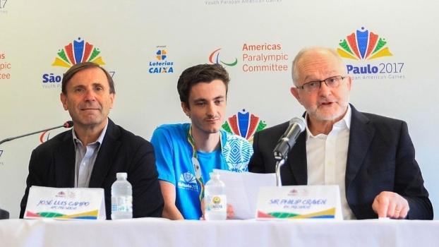 José Luis Campo (esq.),presidente do Comitê Paralímpico das Américas, e Philip Craven (dir.), presidente do Comitê Paralímpico Internacional
