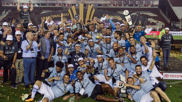 Grêmio se tornou tricampeão da Libertadores na última quarta-feira 9682fbf72f7d2