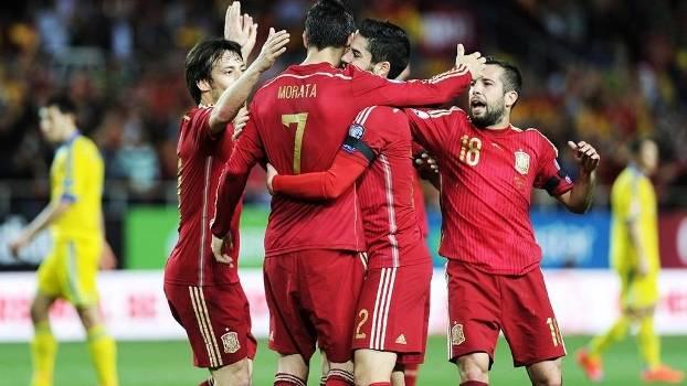 0f6cdbb3fa Morata Comemora Gol Espanha Ucrania Eliminatorias Euro-2016 27 03 2015