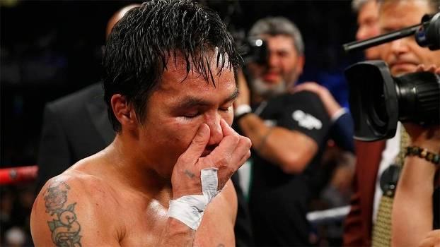 Manny Pacquiao, após a luta contra Floyd Mayweather Jr., em Las Vegas, EUA