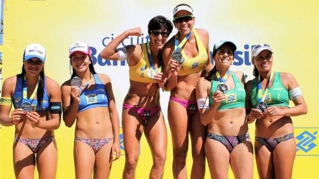 Pódio feminino da etapa de Maringá do Circuito Challenger