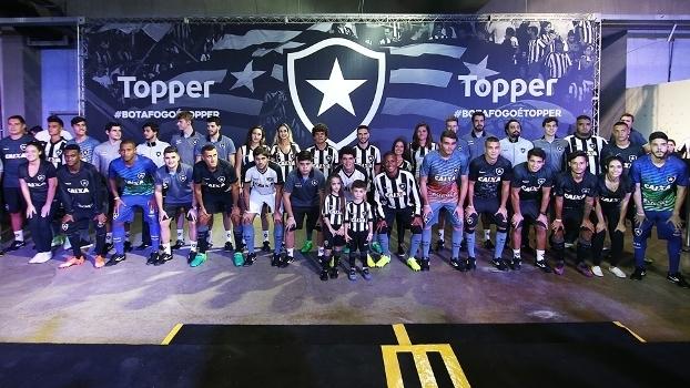 4fa81a97df Botafogo Lançamento Novos Uniformes Topper 06 05 2017