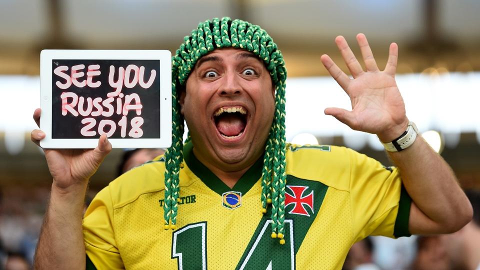 Brasileiro manda mensagem no Maracanã