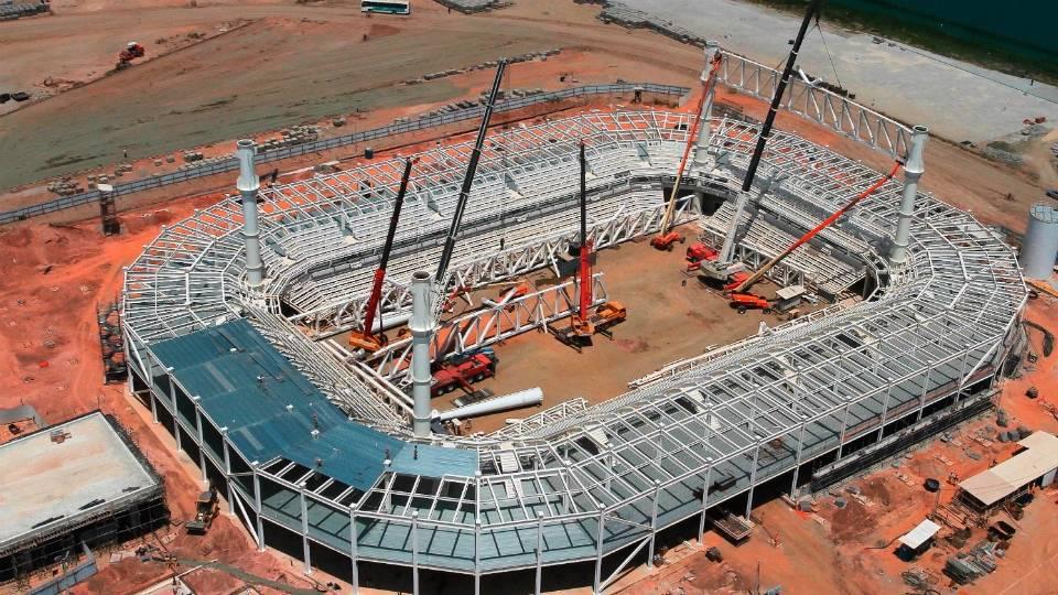 Estádio Aquático, na Barra, será desmontado e vai virar um prédio administrativo após a Olimpíada