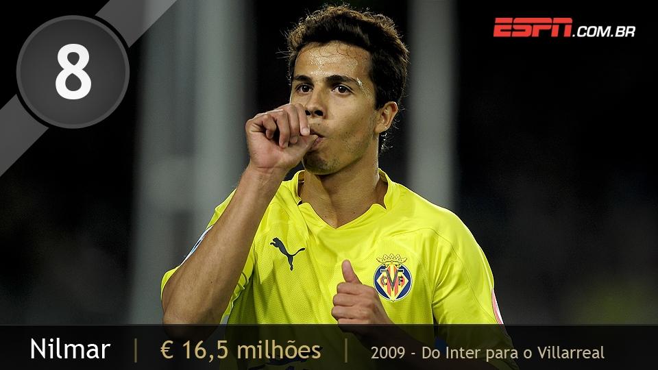 Em sua 2ª passagem pelo Inter, Nilmar deixou o time colorado rumo ao Villarreal, da Espanha, por 16,5 milhões de euros