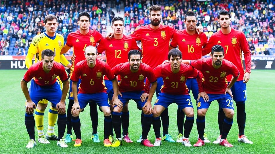 TIME MAIS BAIXO: Espanha, 1,80m em média