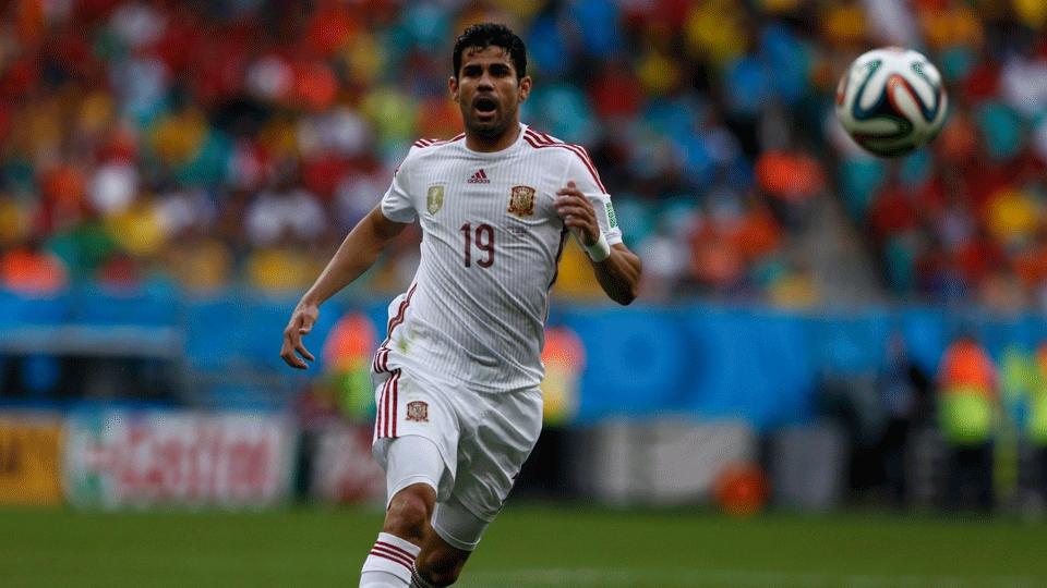 Diego Costa foi vaiado por grande parte da torcida na Arena Fonte Nova