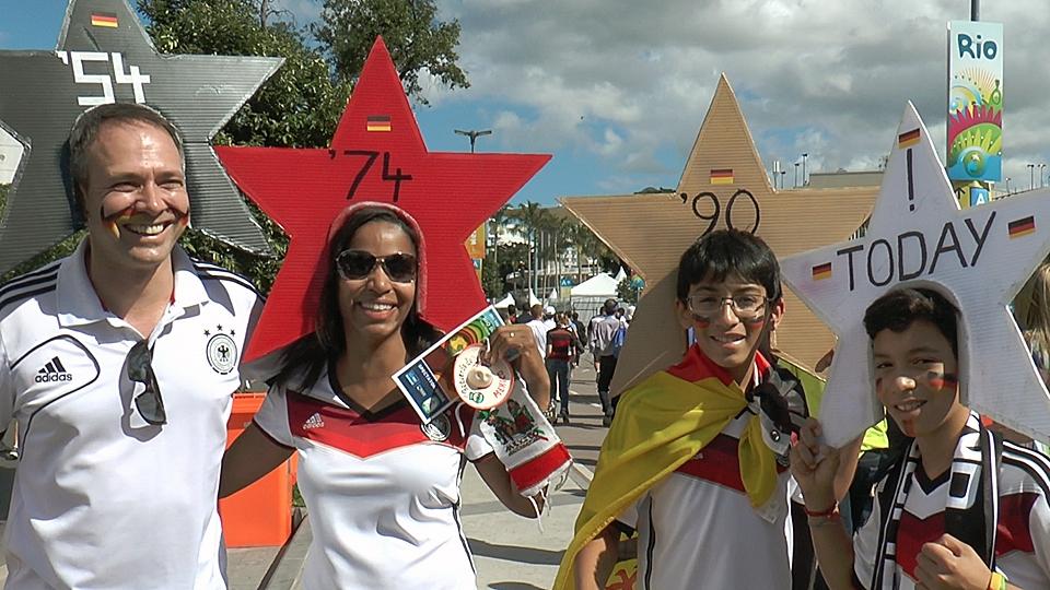 Alemães comemoram reforço de '200 milhões de brasileiros'; latinos apoiam a Argentina