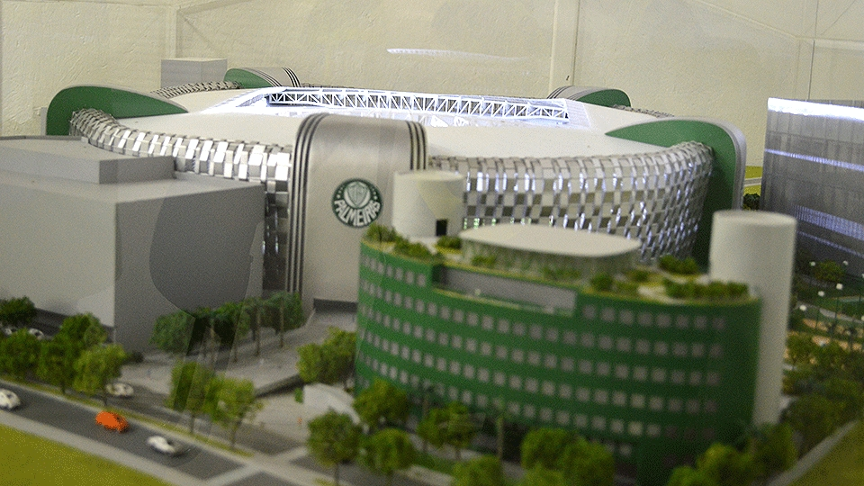 Quando pronto, Allianz Parque ficará igual a maquete