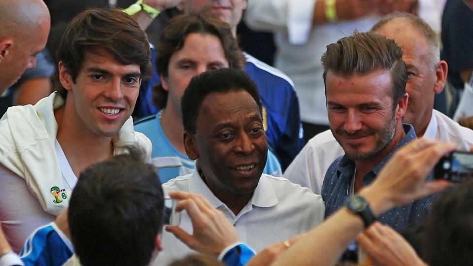 Kaká, Pelé e Beckham estão no Maracanã para acompanhar a final da Copa do Mundo
