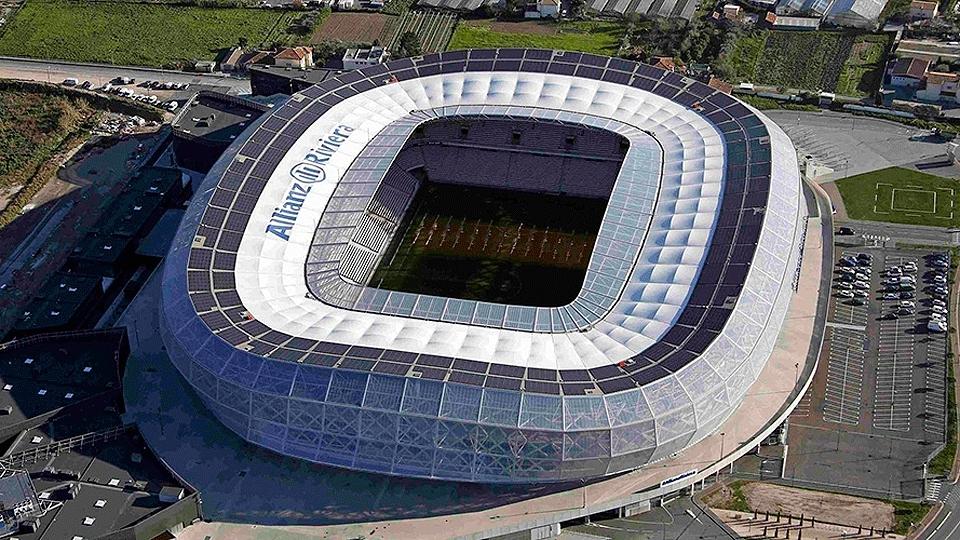 Allianz Riviera (Nice, 35 mil pessoas, estádio novo, de 2013) - R$ 972,6 milhões
