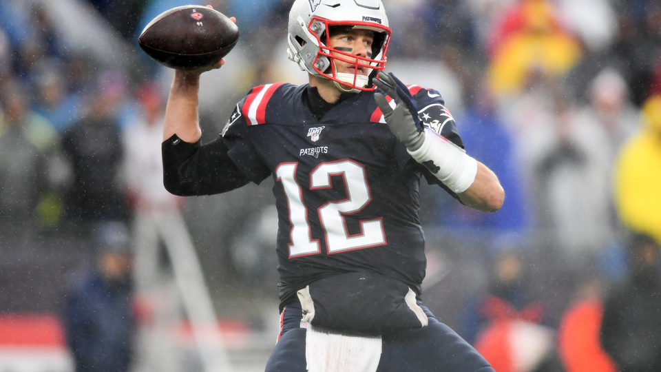 Tom Brady, do New England Patriots, que vai encarar o Baltimore Ravens nesta semana