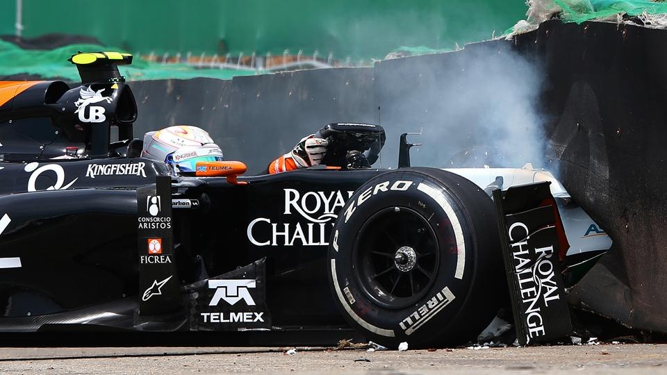 Dia de acidentes também contou com uma batida de Juncadella, da Force India
