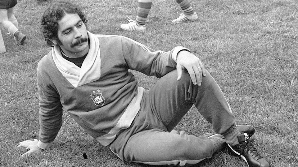 Rivellino durante a preparação para a Copa de 1974, na Alemanha