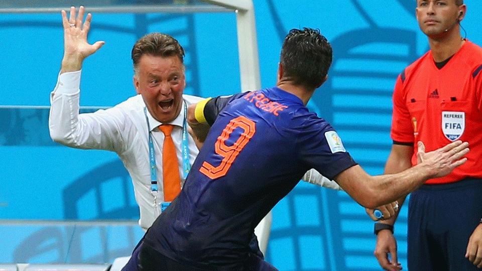 Van Gaal foi ao delírio com o gol de Van Persie