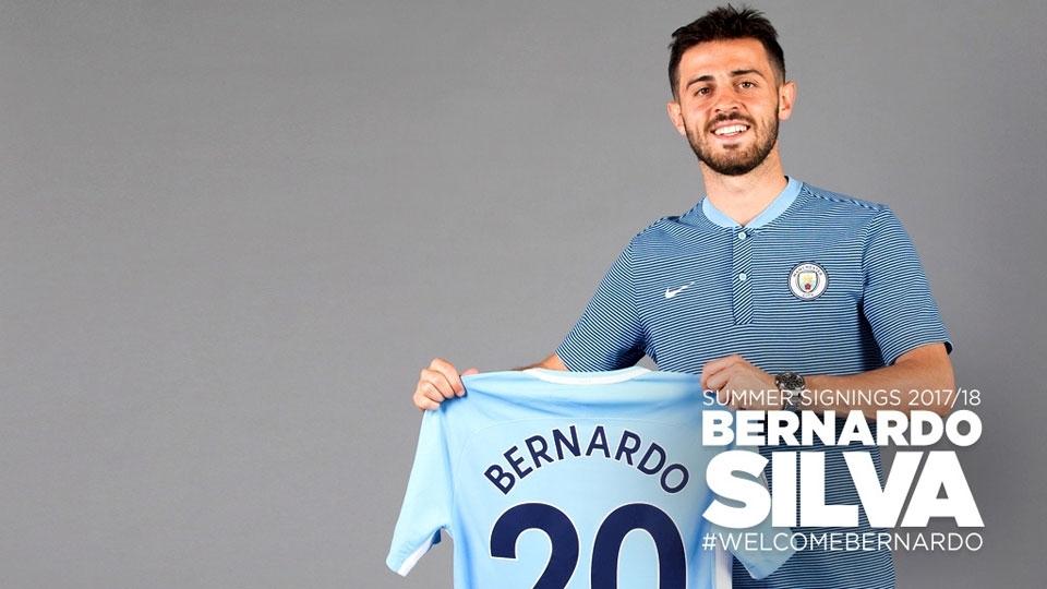 8º - Bernardo Silva (50 milhões de euros, R$ 186,21 milhões): será o camisa 20 do Manchester City